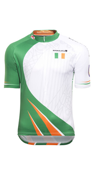 Endura Ireland Kortärmad cykeltröja Herr med tryckt motiv vit